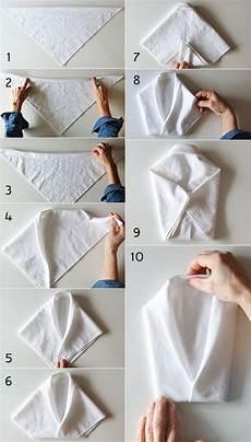 Wie Kann Eine Serviette In Form Vom Hemd Falten