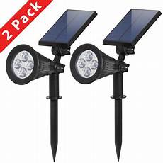 bcp solar landscape lighting security lights of 2 walmart com