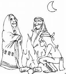 Ausmalbild Indianer Am Lagerfeuer Alte Indianer Am Feuer Ausmalbild Malvorlage Comics
