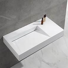 Lavabo Suspendu Rectangulaire Blanc Mat 100x50 Cm Lodge