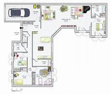 plan habill 233 maison maison de plain pied de quatre