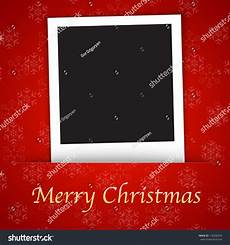 merry christmas card template with blank photo frame the background vector illustration