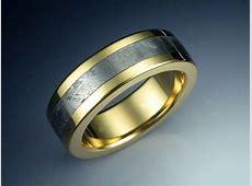 18k Gold Ring Inlaid with Meteorite   Metamorphosis