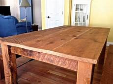 Reclaimed Oak Harvest Table Rustic Dining Tables
