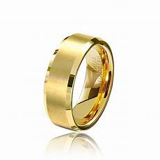 wholesale 8mm gold color tungsten carbide rings mens wedding band bulk gold rings size 4 14
