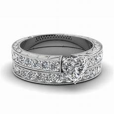 heart diamond vintage pave wedding ring in 950 platinum fascinating diamonds
