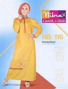 jual termurah gamis trendy murah nibras nb 116 kuning original gamis modern di lapak aulia