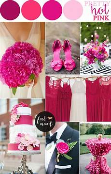 hot pink wedding color combos pink wedding pink