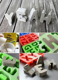 Buchstaben Aus Beton Selber Machen - 1001 ideen zum thema quot basteln mit beton quot