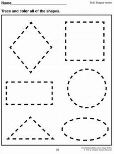 shapes worksheets free printable 1021 math worksheet 1000 images about preschool shapes on shape shape pre k tra with