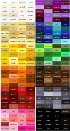 the color thesaurus for writers and designers from ingrid s notes the color color names