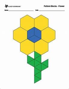 paper folding worksheets grade 5 15678 printable pattern blocks flower pattern blocks math patterns pattern block printables