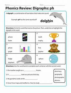 phonics review digraph ph worksheet education com