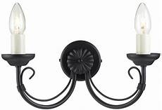 chartwell traditional black 2 l wrought iron wall light ch2 blk