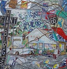 Reds Hamburg Route 66 Type Mixed Media By Phil Jackson