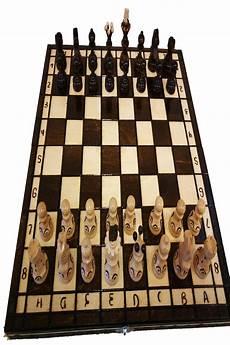 Schachspiel Schach Holz Mit Figuren Schachbrett Edel