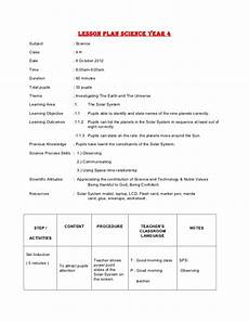 lesson plan science year 4