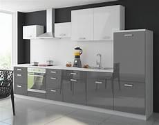 küchen grau weiß k 252 che color 340 cm k 252 chenzeile k 252 chenblock einbauk 252 che in