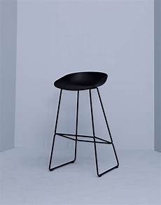 Tabouret De Bar About A Stool Aas 38 Hay Noir Made In