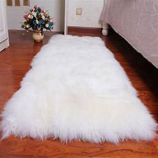 tapis rond en fausse fourrure blanc pas cher acheter