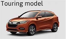 orange 2019 honda hr v touring model