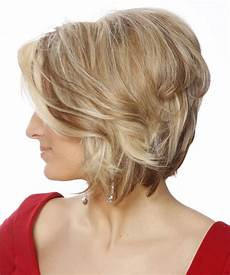 hairstyles from behind short straight light blonde bob haircut with brunette highlights