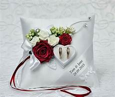 personalized wedding ring cushion pillow with rings holder box 30 color