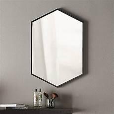 Miroir Hexagonal En M 233 Tal Noir Mat L50xh75 Cm Hexa