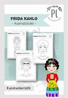 frida kahlo ausmalbilder portrait unterrichtsmaterial