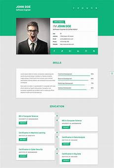 fre html resume website template best html resume templates for awesome personal websites 2018