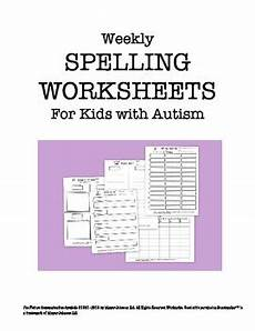 spelling worksheets year 4 australia 22630 weekly spelling worksheets for with autism by hailey deloya