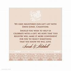 Registry Information On Wedding Invitations