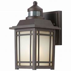 port oxford 1 light rubbed chestnut outdoor motion sensor wall lantern vip outlet