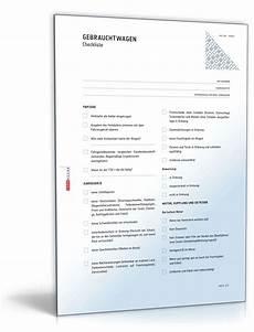 gebrauchtwagenkauf checkliste zum