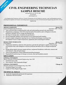 civil engineering technician resume resumecompanion com free resume exles sle resume