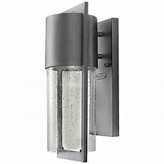 hinkley shelter 15 1 2 quot h led hematite outdoor wall light v9080 ls plus