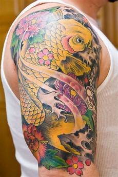 amazing animal koi fish tattoos on arm ideas