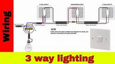 3 way lighting circuit wiring diagram how to wire 3 way lighting circuit youtube