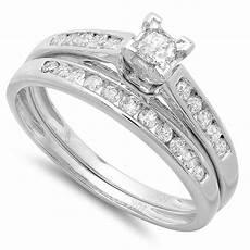 cheap diamond bridal ring 1 carat diamond