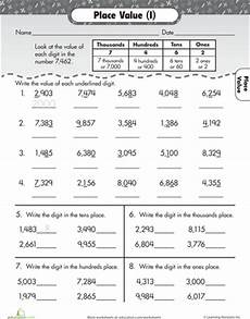 place value review worksheets 5258 thousands place place value worksheets place values 3rd grade math worksheets