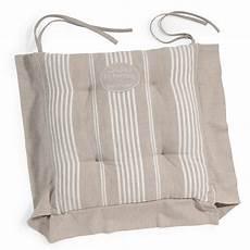maison du monde coussin de chaise cuscino da sedia beige a righe in cotone la bastide