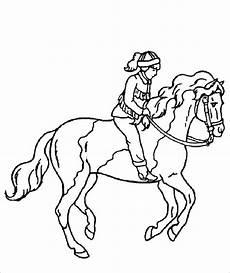 malvorlagen kostenlos pferd mit reiter ausmalbilder