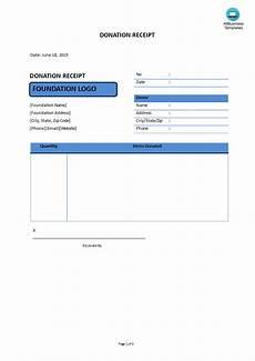 donation receipt templates at allbusinesstemplates com