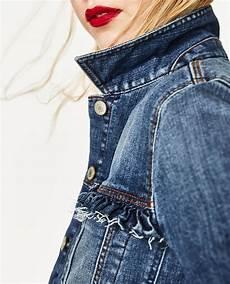 jeansjacke mit volant jacken damen zara deutschland