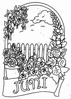 Malvorlagen Jahreszeiten Kostenlos Juni Juni Mit Blumen Ausmalbild Malvorlage Monatsbilder