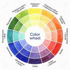 mixing paint color chart best of drawn color wheel color mixing chart for watercolor