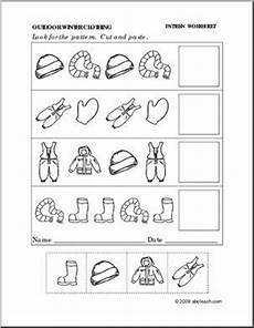 patterns worksheets 0 worksheet winter clothing follow the pattern preschool primary abcteach worksheets for