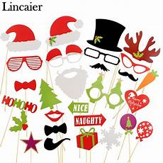 lincaier photo booth props 2017 merry christmas decorations for home ornaments santa claus tree