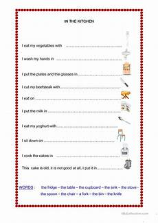 in the kitchen worksheet free esl printable worksheets made by teachers