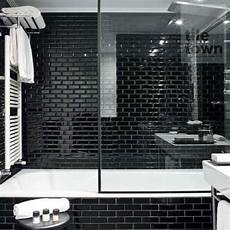 Metro Black Bathroom Wall Tile
